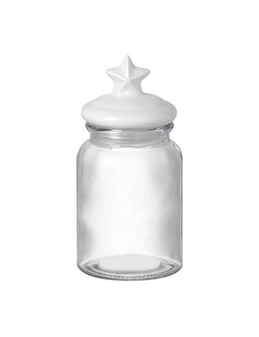 Glass Jar with Ceramic Star...