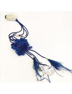 Collana lunga Flower Blue