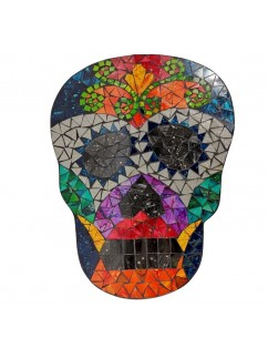 Skull with colored mirrors.