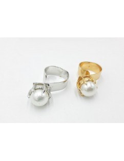 STAINLESS STEEL RING PEARL