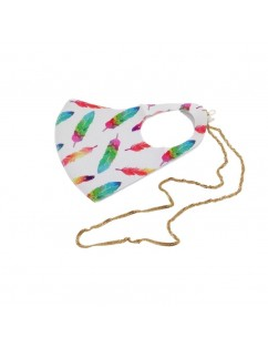 Neoprene mask Feathers with...