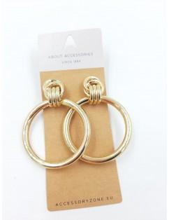 Elegant golden hoop earring