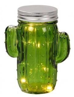 Cactus glass jar with led light