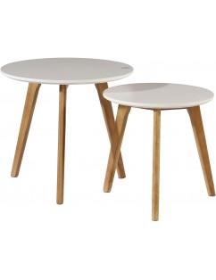 2 tavolini bianchi