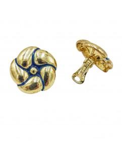 Clip-on earrings, flower...
