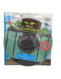 Green screening mesh for gardens, terraces, construction or as a half shade