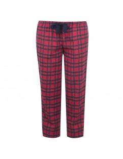 Pantaloni pigiama da uomo iotone scozzese rosso. Inverno-Primavera - Largo e comodo.