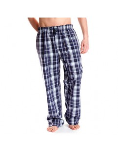 Blue Plaid Cotton Men's Pijama Pants. Winter -Spring - Loose and comfortable.