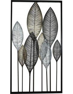 Cuadro metálico hojas